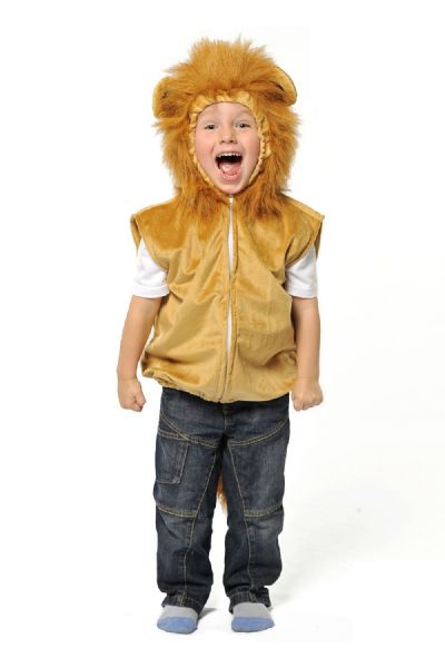 Children's Kids Boys Girls Lion Tabard Wizard of Oz Fancy Dress Costume Outfit